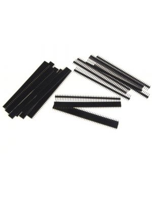 Generic E_14001662 Imported 10X Single Row Male and Female 40 Pin Header Strip 254 mm