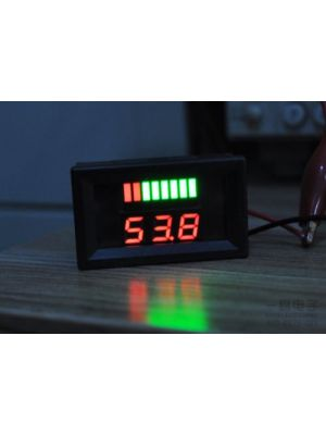Battery Power Indicator - 6V Lead-acid Battery Charge Level Indicator Voltmeter - Red Colour