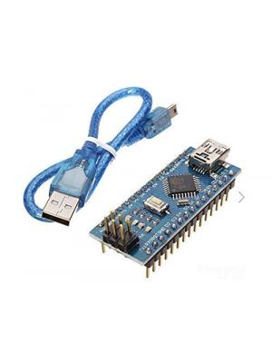 Nano V3 ATmega328P CH340 Mini USB - with USB Cable - Compatible with Arduino - soldered pins
