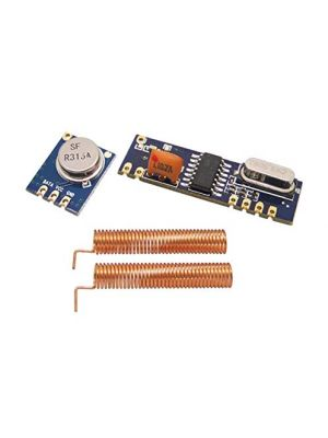 315MHz - Superheterodyne Long Distance ASK Wireless Module kit - RF Transmitter STX882 + Receiver SRX882 + Copper Spring Antennas - for Arduino and other MCU's