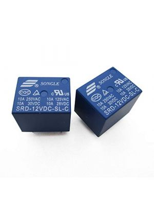 12V DC Power Relay - SRD-SL-C DIP-5 - Non Latching SPDT 10A (250VAC 30VDC) - PCB Mount