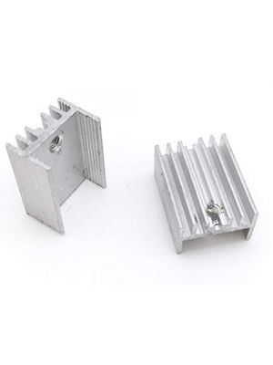 TO-220 20*15*10MM Aluminium Heatsink - suitable for IGBT Transistors MOSFET Triod IC (Silver)