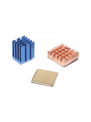 Heatsink Set - 1 Aluminum + 2 Copper Heat Sinks Cooling Sitcky Pad For Raspberry Pi 2 3 Model B B+
