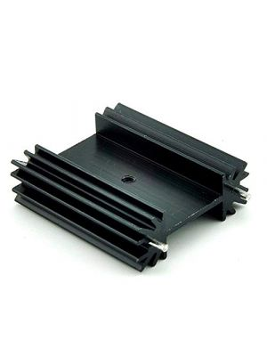TO-247 34 * 12 * 38MM Aluminium Heatsink with Cooling Fin - suitable for IGBT Transistors MOSFET Triod IC - Black Anodised with Cooling Fin