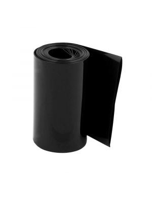 Length 1M - PVC Heat Shrink Wrap Casing Tubing Insulation - For Li-ion Lithium Battery - Flat Width 70MM, Black