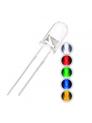 5MM 5 Colors Water Clear Transparent Round (Candle) LED / Light Emitting Diodes