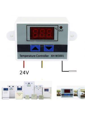 XH-W3001 DC 24V 10A 240W - LED Digital Temperature Controller Thermostat Switch for incubator - with waterproof NTC Sensor