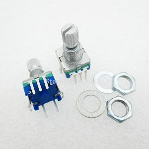 Rotary encoder - code switch/EC11/ digital potentiometer with switch 5Pin handle length 15mm (20MM)