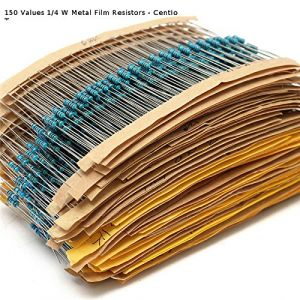 Resistors pack: 0.25W 1/4W 150 values x 3pcs = 450pcs 0 OHM - 10M 1% full range resistors assorted kit