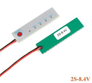 2S 8.4V Battery Power Indicator - 18650 Li-ion lipo Lithium Battery Capacity Indicator Power LED Display PCB Board Meter Tester - with Switch (2S 8.4V)