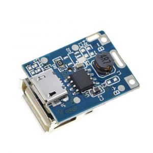 134N3P 5V Step-Up Module Lithium Battery Charging Protection Board - Boost Converter with LED Indicator - for DIY Power Bank