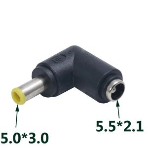 DC Power socket 5.5 x 2.1 mm FEMALE -to- MALE DC Plug 5.0 x 3.0 mm | 90 Degree angled | Connector Adapter Converter