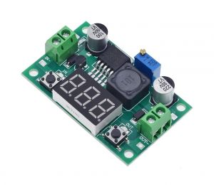 LM2596 LM2596S DC-DC Adjustable Buck Step Down Power Supply Module - with LED Voltmeter Digital Display (Green)
