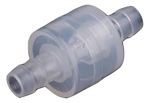 One-Way Non-Return Inline Check Valve - Plastic Transparent - for Water Fuel Gas Liquid (8MM)