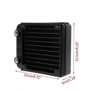 120mm Radiator Water Cooler Tubes Heat Exchanger Aluminum Water Cooling CPU Heat Sink  for Gaming Computer and Peltier (120mm)