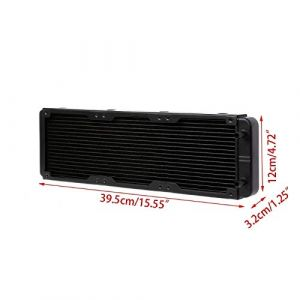 360mm Radiator Water Cooler Tubes Heat Exchanger Aluminum Water Cooling CPU Heat Sink for Gaming Computer and Peltier (360mm)