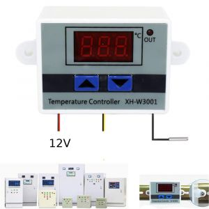 XH-W3001 DC 12V 10A 120W - LED Digital Temperature Controller Thermostat Switch for incubator - with waterproof NTC Sensor
