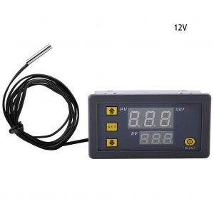 W3230 DC 12V - LED Digital Temperature Controller Thermostat - Heating Cooling Control Switch Instrument NTC Sensor