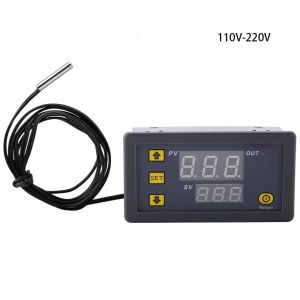 W3230 AC 110 to 220V - LED Digital Temperature Controller Thermostat - Heating Cooling Control Switch Instrument NTC Sensor