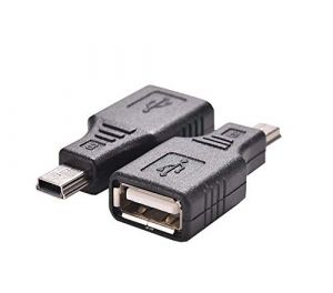 USB to USB Coupler Adapter – Type A Female -to- Mini B 5Pin Male OTG Host Converter