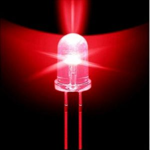 5MM RED Water Clear Transparent Round (Candle) LED / Light Emitting Diodes