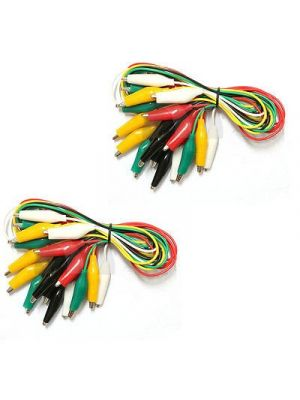 20pcs Imported 50cm Double-ended Crocodile Clips Cable Alligator Clips Wire Testing