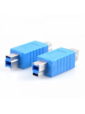 USB to USB Coupler Adapter Converter - USB 3.0 Type B Male to Type B Male connector