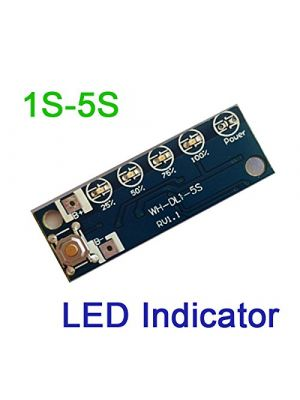 1S - 5S 3.6V-4.2V Lithium ion Charging Battery Voltage Capacity Percent Level LED Indicator charger display 18650 14500