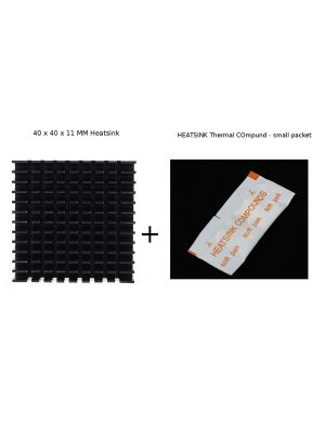 Black 40 x 40 x 10mm Heat sink Aluminum Heatsink Cooler + Heatsink Compound