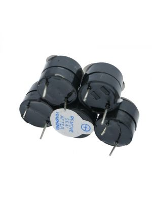 Active Buzzer Magnetic Long Continous Beep Tone Alarm Ringer - 12mm Mini Active Piezo Buzzers - for Arduino Computers Printers
