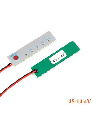 4S 14.4V lifepo4 Battery Power Indicator - 18650 Li-ion lipo Lithium Battery Capacity Indicator Power LED Display PCB Board Meter Tester - with Switch (4S 14.4V LiFePo4)