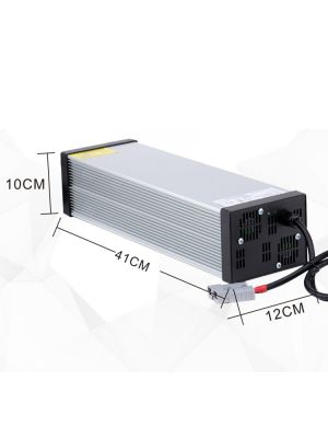 17S Faster Lithium Battery Charger 71.4V 7A for 60V Ebike Battery with 4 Cooling Fan