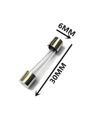 2 Pieces - 500mA Fast Blow Glass Tube Fuses - 6MM x 30MM 250V (0.5A)
