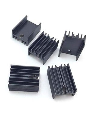 TO-220 20 * 15 * 10MM Aluminium Heatsink - suitable for IGBT Transistors MOSFET Triod IC (Black Anodised)