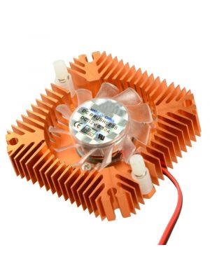 55mm 2 PIN Graphics Cards Cooling Fan Aluminum Gold Heatsink Cooler