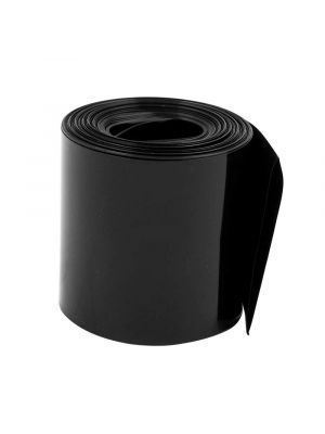 Length 1M - PVC Heat Shrink Wrap Casing Tubing Insulation - For Li-ion Lithium Battery - Flat Width 50MM, Black