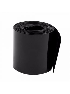 Length 1M - PVC Heat Shrink Wrap Casing Tubing Insulation - For Li-ion Lithium Battery - Flat Width 60MM, Black
