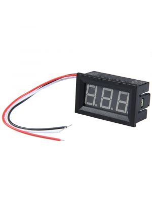 0.56inch DC 0-100V Three Wire LCD Blue Light Digital Voltmeter Red