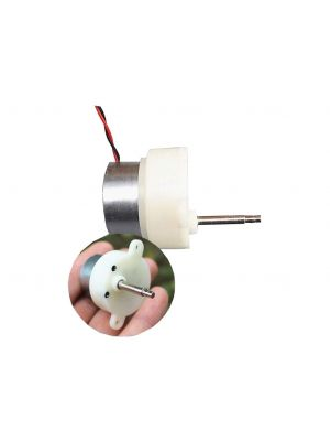 7RPM 15 + 5.3mm 6V Slow Speed Micro Turbo Gear Motor - Micro 300 Gearbox Speed Reduction Motor – Stepped Shaft – DC 3V-9V 7 rpm