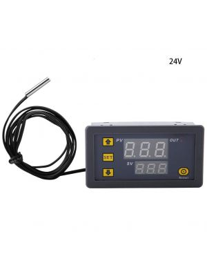 W3230 DC 24V - LED Digital Temperature Controller Thermostat - Heating Cooling Control Switch Instrument NTC Sensor